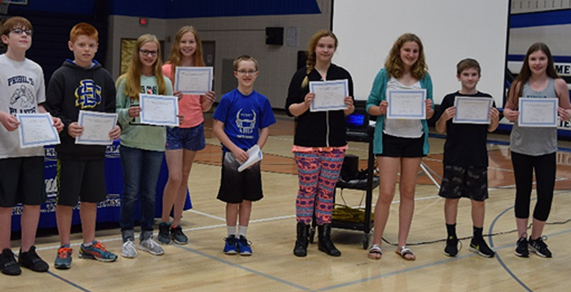 Awards Day for the Middle School Students