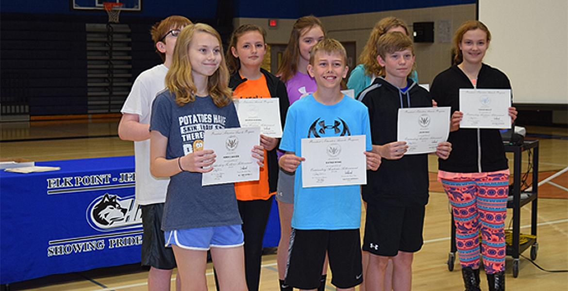 Students presented their awards on Awards Day